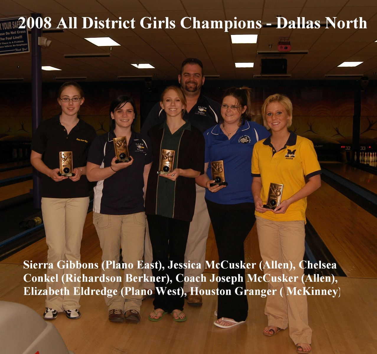 2008 All District Girls