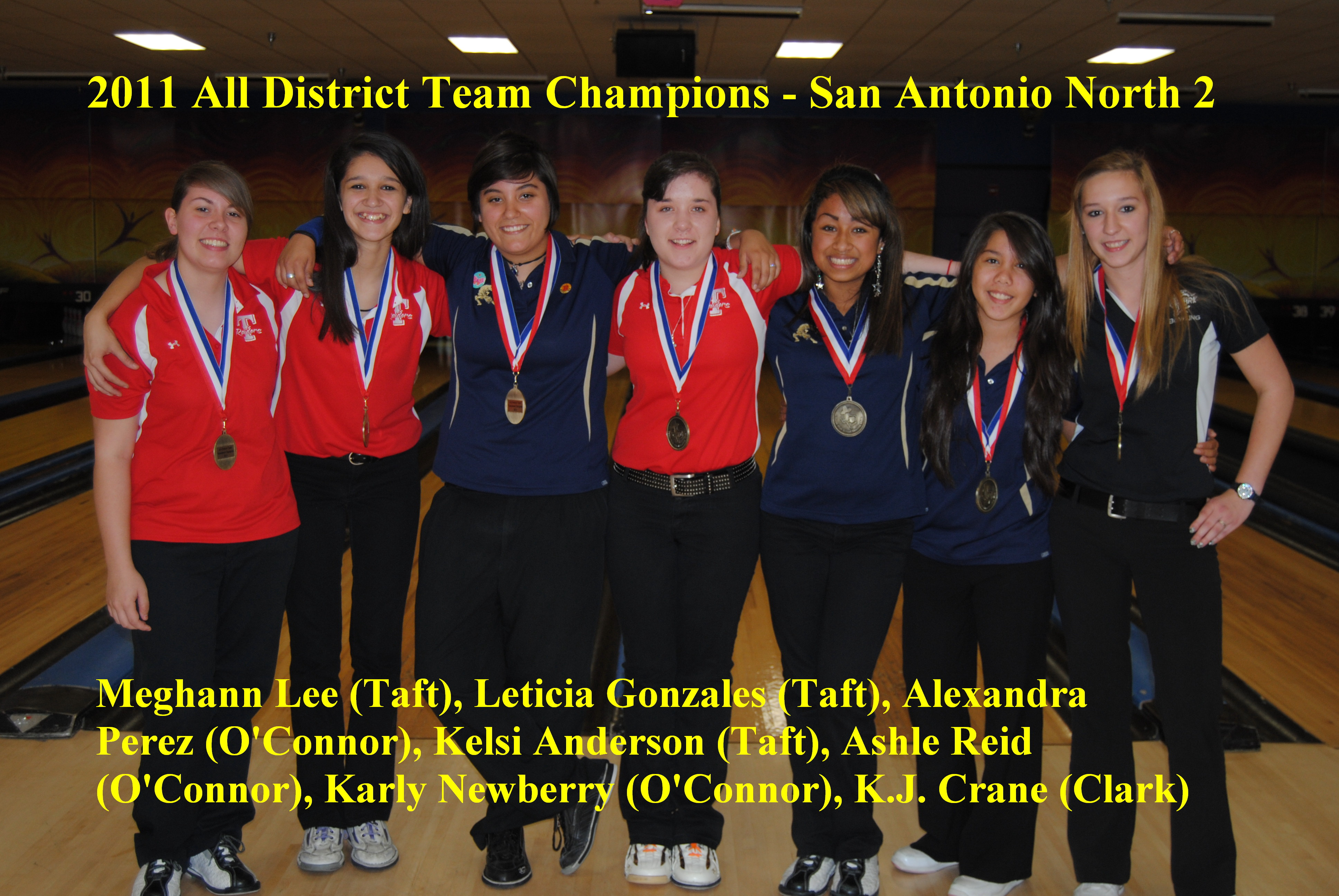 2011 All District Girls